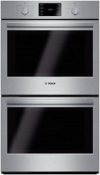 "Bosch HBL5651UC 500 30"" stainless steel electric double wall oven, convection"