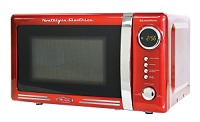 Nostalgia Electrics Retro Series 0.7 Cubic Foot Compact Microwave Oven in Red