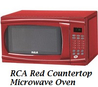RCA Red Countertop Microwave Oven 1000 Watts